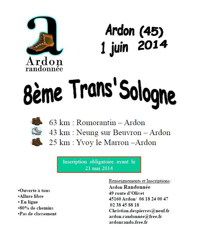 8ème Trans-Sologne (63 km) : 1er juin 2014 Trans14